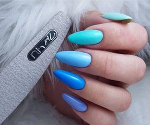 light blue, nail, and nail art image