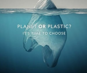 plastic, earth, and planet image