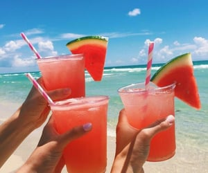 drink, drink party, and watermelon pink image