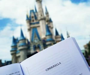 book, disney, and cinderella image