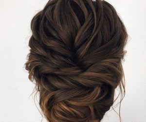 bleached, brown, and bun image