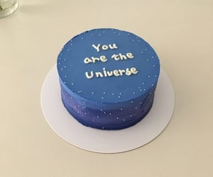 blue, cake, and universe image
