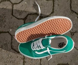 green, sneakers, and vans image