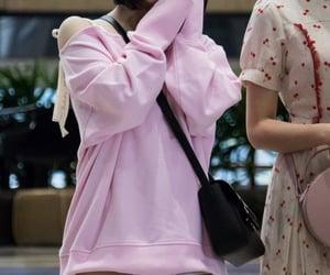 kpop, pink hoodie, and eunha image