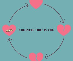 love, heart, and cycle image