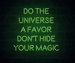 green, magic, and light image