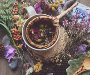 witch, flowers, and magic image