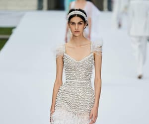 20s, runway, and feathers image