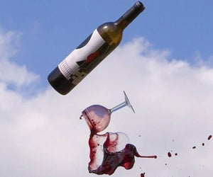 wine, alcohol, and sky image