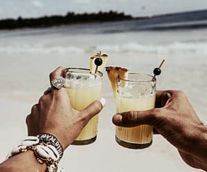 beach, cocktail, and summer image