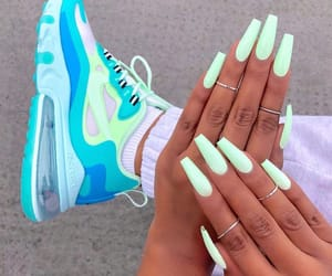 nails, fashion, and sneakers image