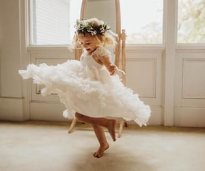 dance, dress, and baby image