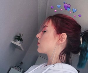 aesthetics, colored hair, and girl image