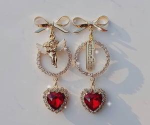 bows, cupid, and hearts image