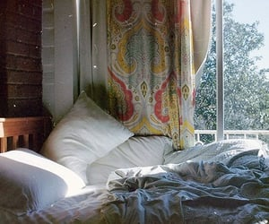 bed, bedroom, and vintage image