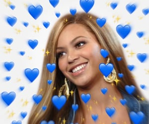 blue, bey, and heart meme image