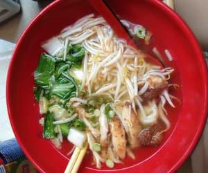 Chicken, nom nom nom, and noodles image