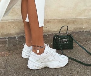 bag, sneakers, and street style image