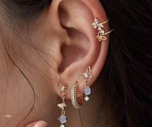jewelry, earrings, and girl image