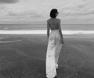 beach, black and white, and blogger image