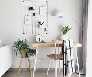 desk, home, and inspiration image