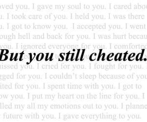 quotes, cheater, and heartbroken image