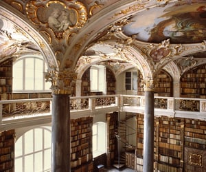 library, book, and architecture image