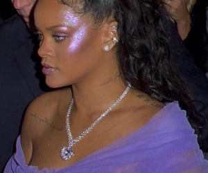 rihanna, makeup, and purple image