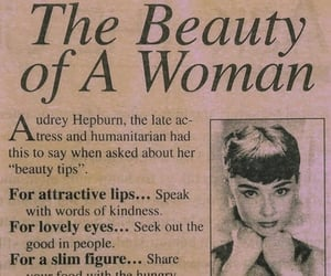 audrey hepburn, beauty, and quotes image