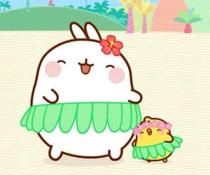 Aloha, bird, and molang image