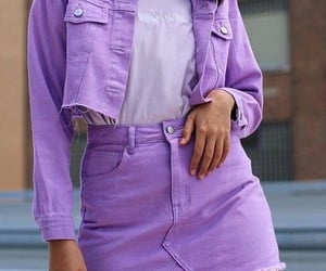 purple, skirt, and outfit ideas image