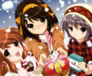 anime, christmas, and snow image
