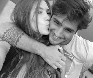 black and white, romantic, and couples image