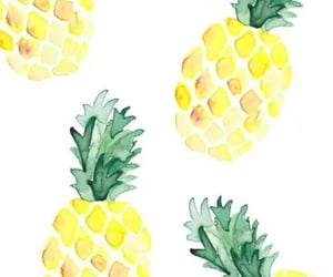 fruit, green, and pinapple image
