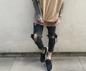 boys, ripped jeans, and skinny jeans image