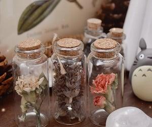 botanical, flowers, and totoro image