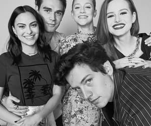 cole sprouse, madelaine petsch, and lili reinhart image