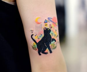 tattoo, black, and colorful image