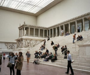 museum, art, and people image