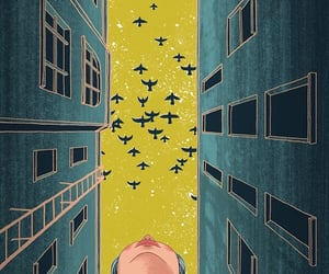 art, illustration, and bird image