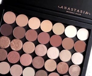 palette, anastasia, and makeup image