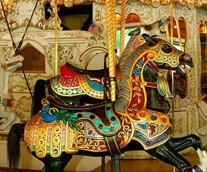 fun fair and carrousel image