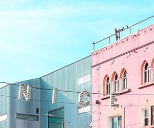 aesthetic, blue, and pink image
