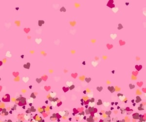 hearts, pattern, and pink image