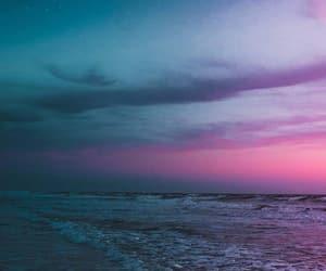 beach, night, and wallpaper image