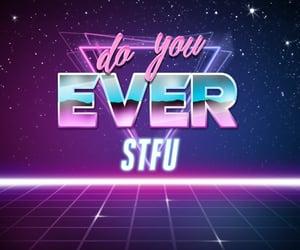 memes, reaction, and stfu image