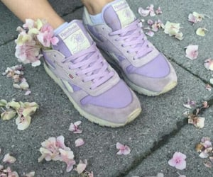 purple, flowers, and shoes image