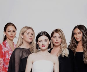 pretty little liars, lucy hale, and shay mitchell image