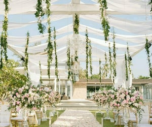 wedding decoration, wedding day, and special day image