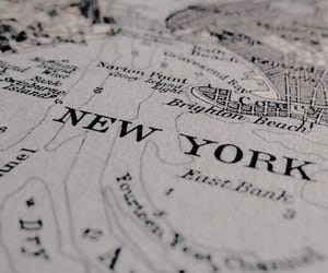 map, new york, and travel image
